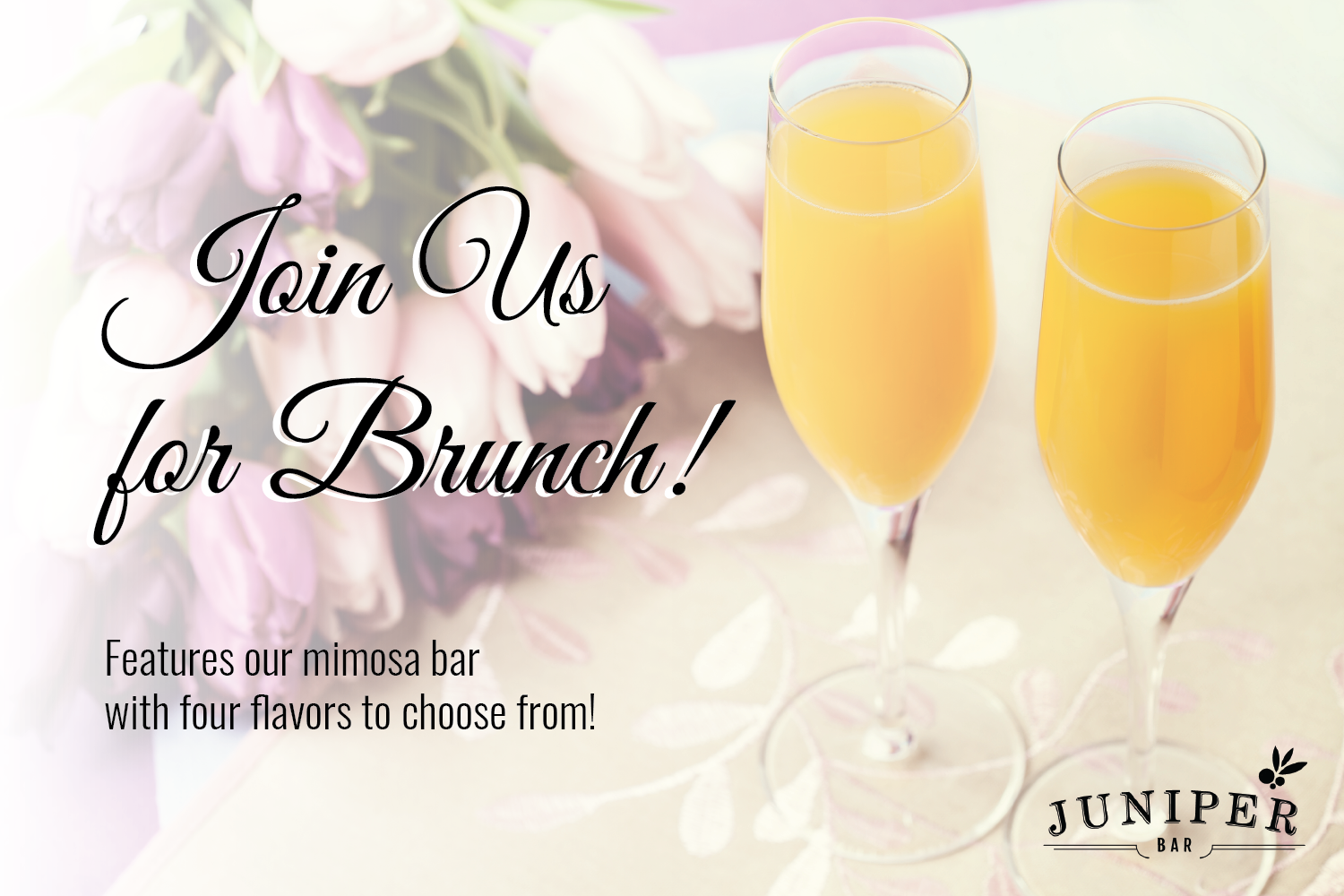 Juniper is inviting you to join them for brunch